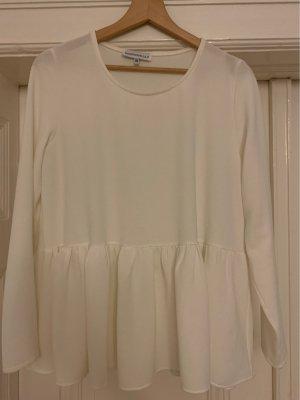 Weiße Bluse mit Schößchen von Mademoiselle