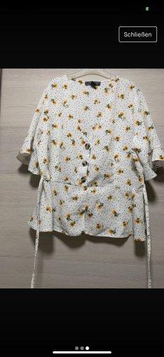 Weiße Bluse mit sonnenblumen