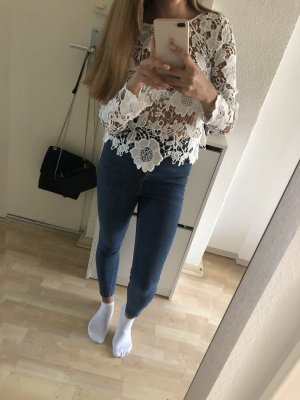 H&M Haut en crochet blanc