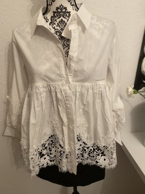 Choklate Lace Blouse white cotton