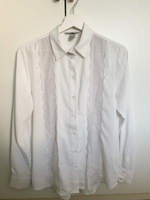 Weiße Bluse mit Spitze von H&M