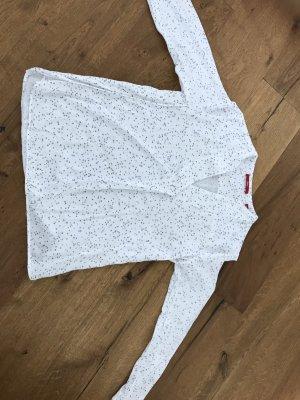 Weiße Bluse mit Sterchen