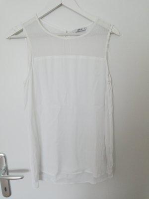 weiße Bluse mit Trägern