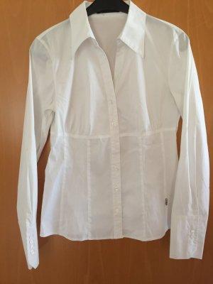 Weiße Bluse mit V-Ausschnitt
