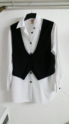 Weiße Bluse mit Weste