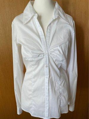 Amisu Bluzka z długim rękawem biały Wiskoza