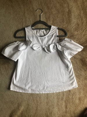 Weiße Bluse (schulterfrei)