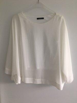 weiße Bluse transparent