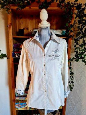 Best Connections Koszulowa bluzka biały-błękitny Bawełna