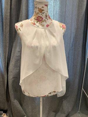 AIKI KEYLOOK Bluzka z krótkim rękawem biały