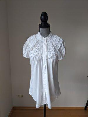 BCBG Maxazria Ruche blouse wit