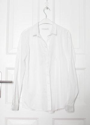 Weiße Bluse von Bogdar Baumwolle Vintage Look Gr. S/M