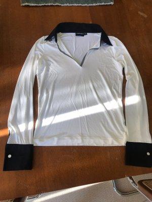 Emporio Armani Long Sleeve Blouse white-black