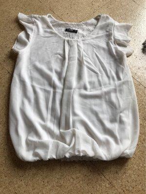 Haily's Camicetta con arricciature bianco