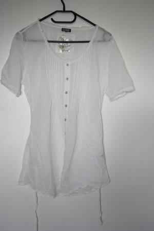 Kenny S. Short Sleeved Blouse white cotton