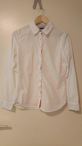 Weiße Bluse von Tommy Hilfiger mit bunten Details (Größe 38)