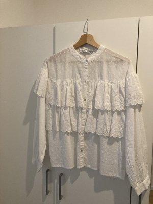 Weiße Bluse von ZARA - Größe S
