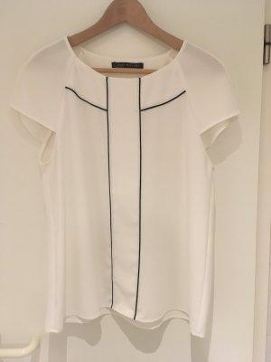 Weiße Bluse von ZARA in Größe 40 (L)