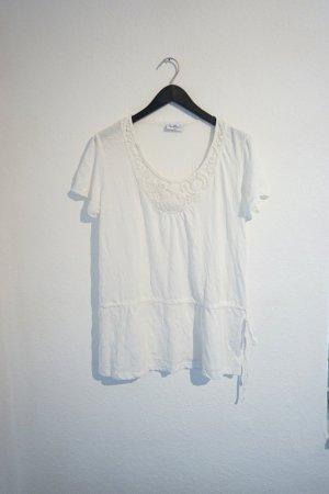 Weiße Bluse / weißes Boho Shirt