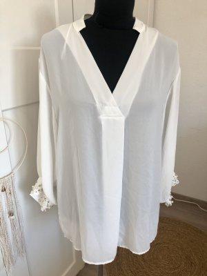 Weiße Bluse, Zara, Größe S