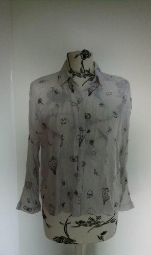 Weiße Bluse Zara L