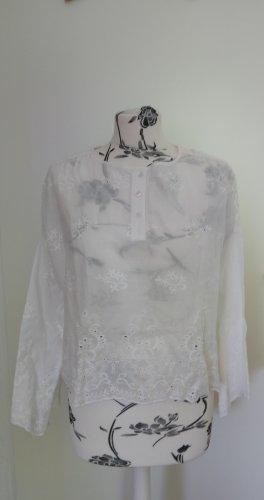 Weiße Bluse Zara M