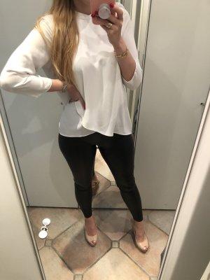 Weiße Bluse ZARA Volants S