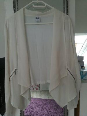 weiße Blusenjacke