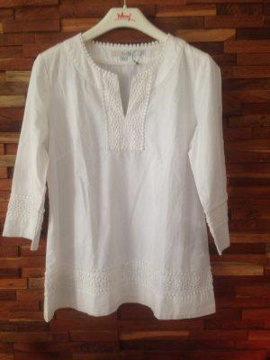 Weiße Boden Bluse
