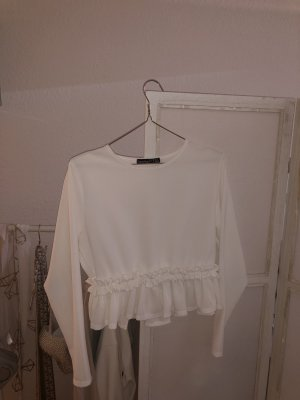 Ruffled Blouse white