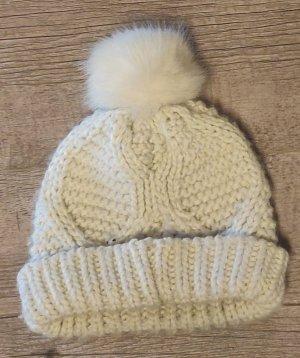 C&A Sombrero de punto blanco-blanco puro
