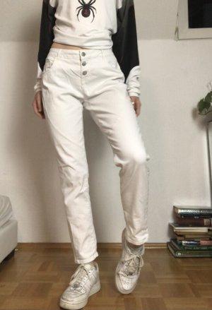 Jean Pascale Jeans bootcut blanc