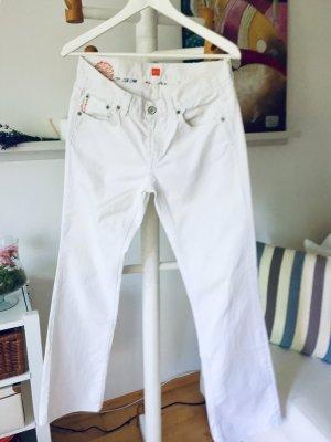 Boss Orange Spodnie z pięcioma kieszeniami biały Bawełna