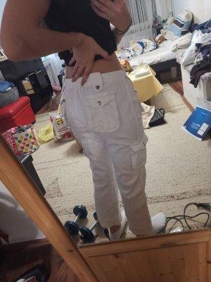 BLUE COLLECTION Pantalon cargo blanc