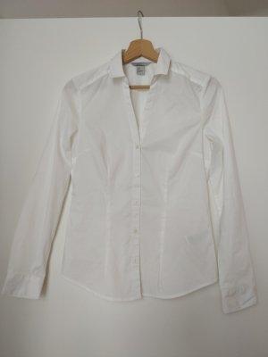 Weiße Business-Bluse