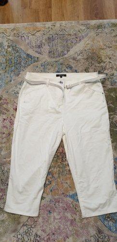 Weiße Caprihose von Fabiani mit Gürtel, Größe 40, nur 1x getragen