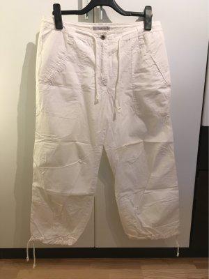 Weiße Cargo-Shorts