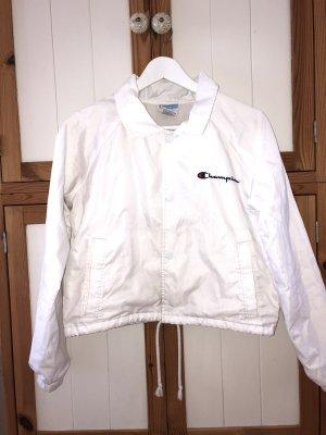 Weiße Champion Windbreaker Jacke