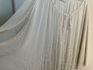 Weiße Chiffon Bluse mit offenem Ärmel