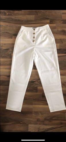 Weiße Chiffon Hose