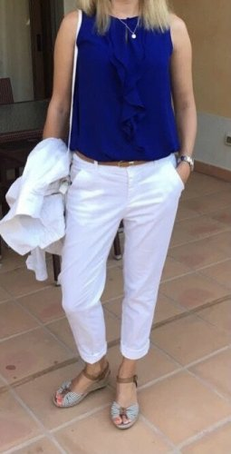 Guess Chinos white cotton