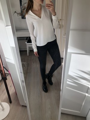 Weiße Classic Bluse