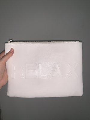 """weiße clutch """"relax"""""""