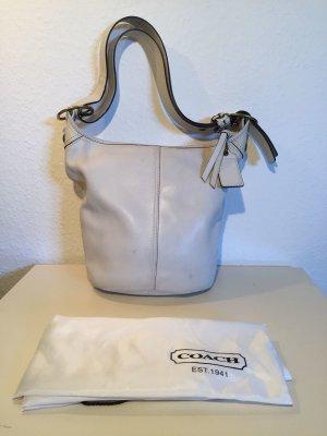 Weiße COACH Leder-Handtasche
