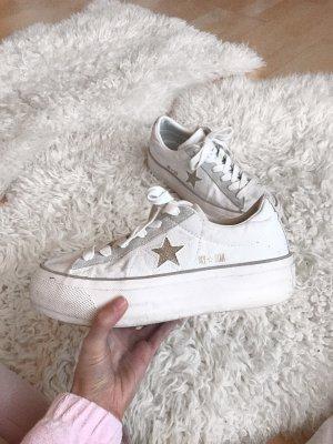 Weiße converse chucks Plateau sneaker