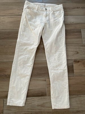 Green Coast Corduroy Trousers white cotton