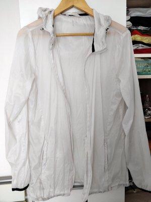 Weiße Crane Sportjacke, Laufjacke, Gr. M (40/42)