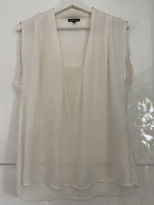 Weiße Cremweiße Bluse von Warehouse mit spitze L 40