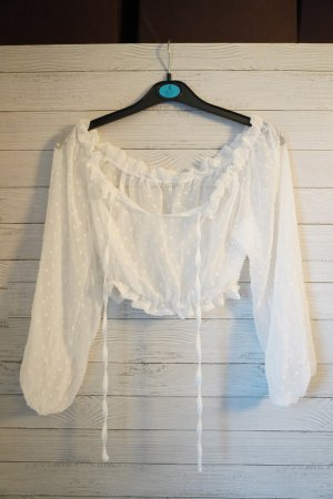 Carmen Blouse white mixture fibre