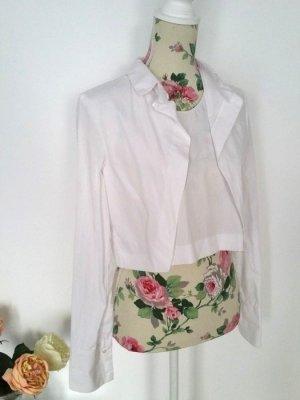Weiße Cropped Bluse aus Baumwolle von Zara